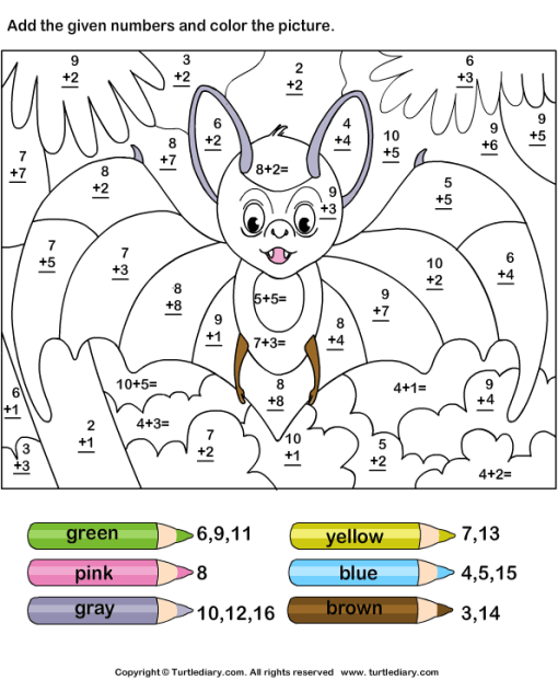 dessin à colorier magique math addition