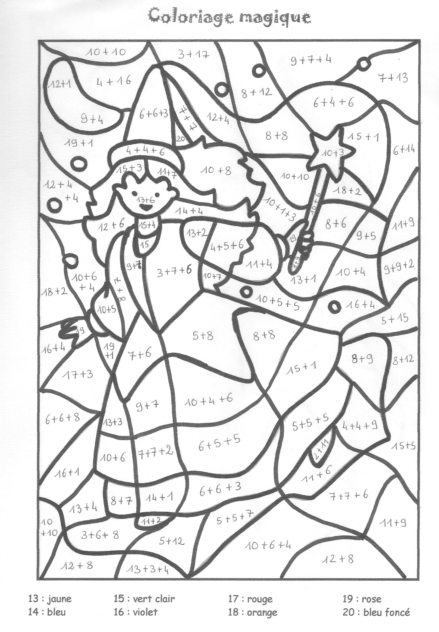 18 dessins de coloriage magique ce1 calcul imprimer - Coloriage magique calcul ce1 ...