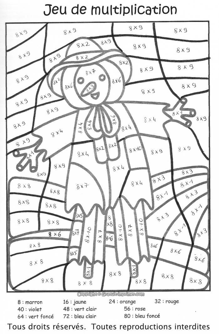 dessin à colorier magique ce1 son é