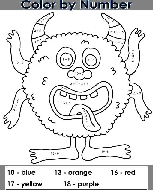 dessin à colorier magique homophones ce1