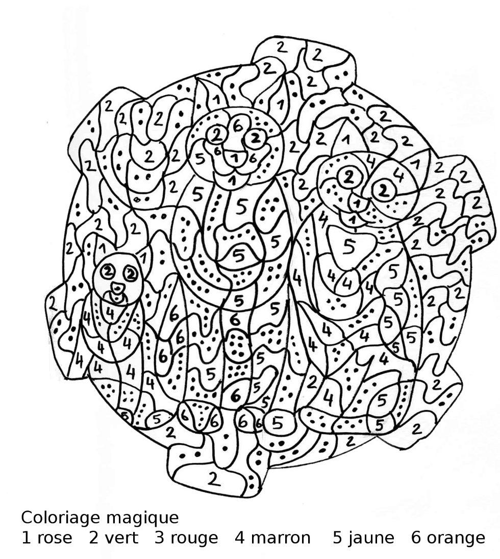 dessin à colorier magique ce1 ce2