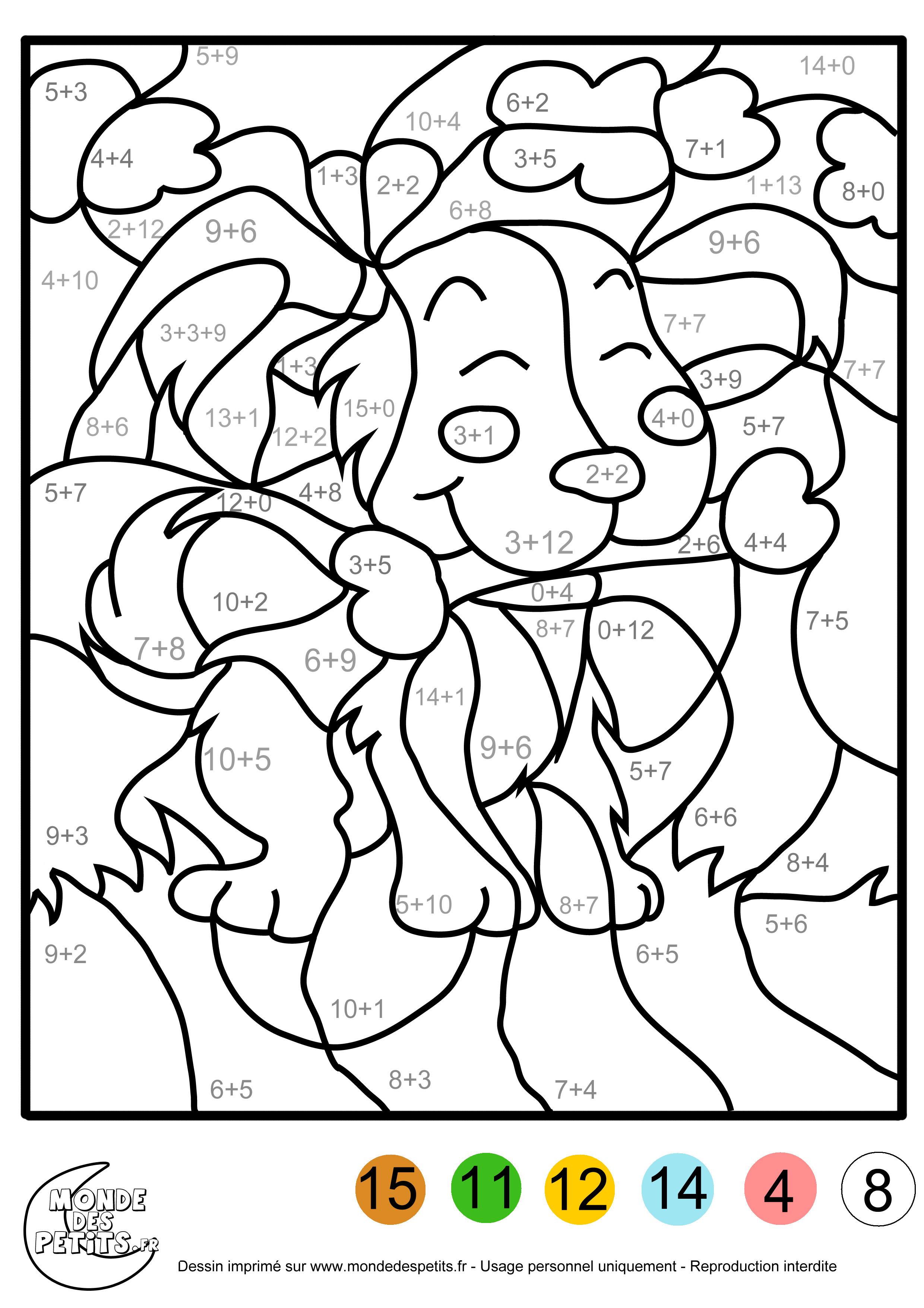 dessin à colorier magique ce1 de noel