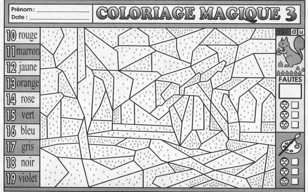 Dessin colorier magique ce1 les coccinelles - Coloriage magique son ...
