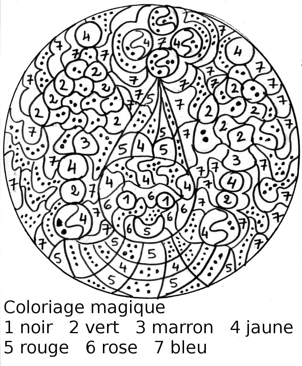 coloriage à dessiner à imprimer magique ce1