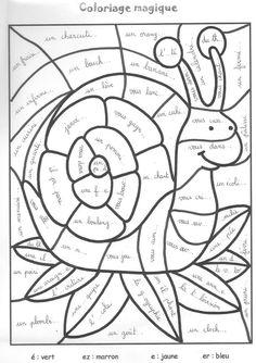 dessin à colorier magique ce2 calcul a imprimer