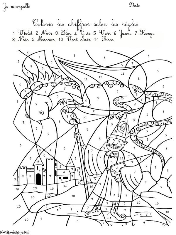 dessin à colorier magique ce2 maths a imprimer