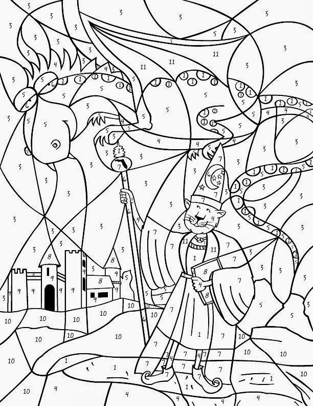 dessin à colorier magique ce2 fiche 21