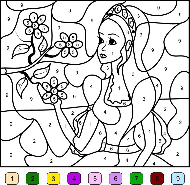 dessin à colorier magique de chevaux ce1