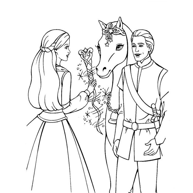 30 dessins de coloriage magique cheval imprimer - Prince et princesse dessin ...
