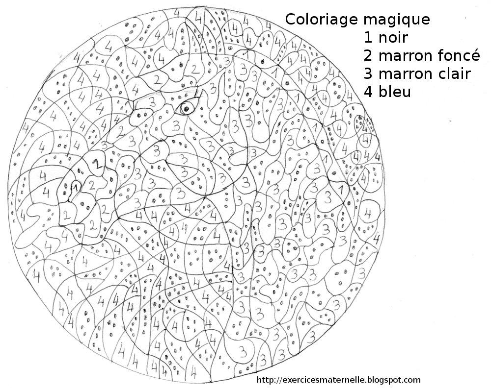 Frais Coloriage Magique Cheval Ce1