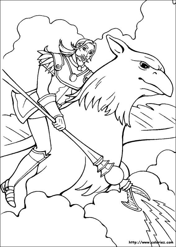 dessin à colorier cheval magique a imprimer gratuit