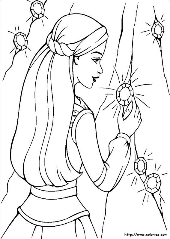 dessin barbie cheval magique imprimer