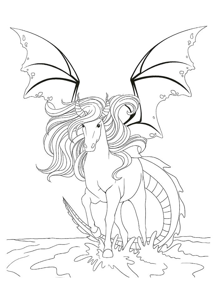 Dessin colorier barbie cheval magique a imprimer - Coloriage cheval sauvage ...