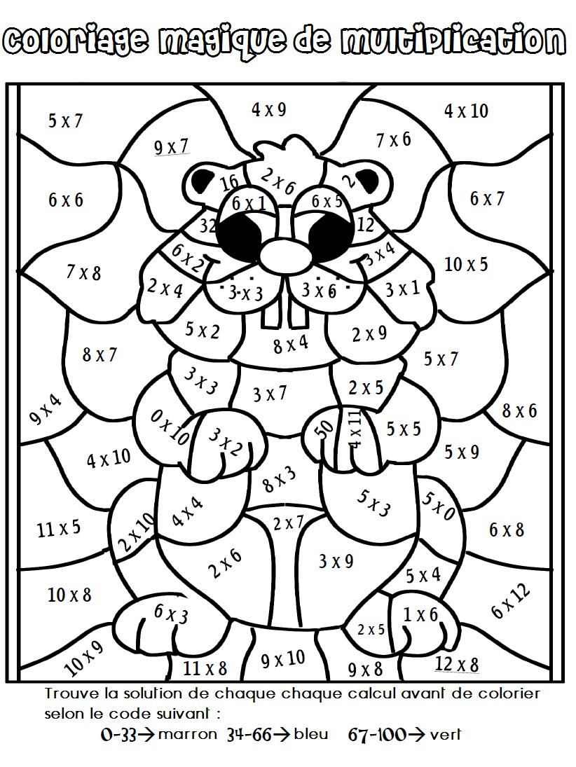 19 dessins de coloriage magique cm2 imprimer for Multiplication en jouant