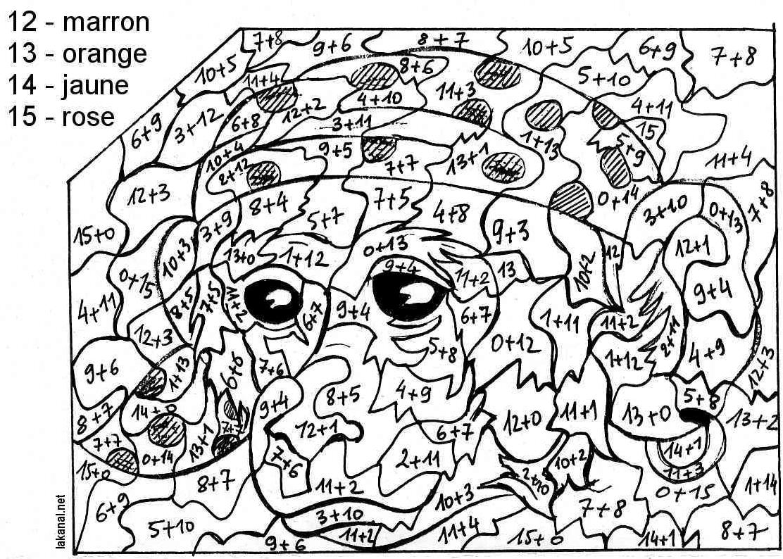 dessin colorier magique cm2 imprimer conjugaison