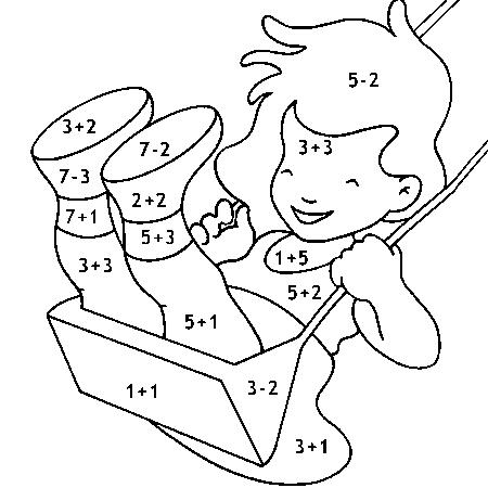 19 dessins de coloriage magique cp addition imprimer - Coloriage code addition ...