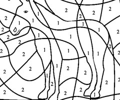 coloriage à dessiner magique cp nombres