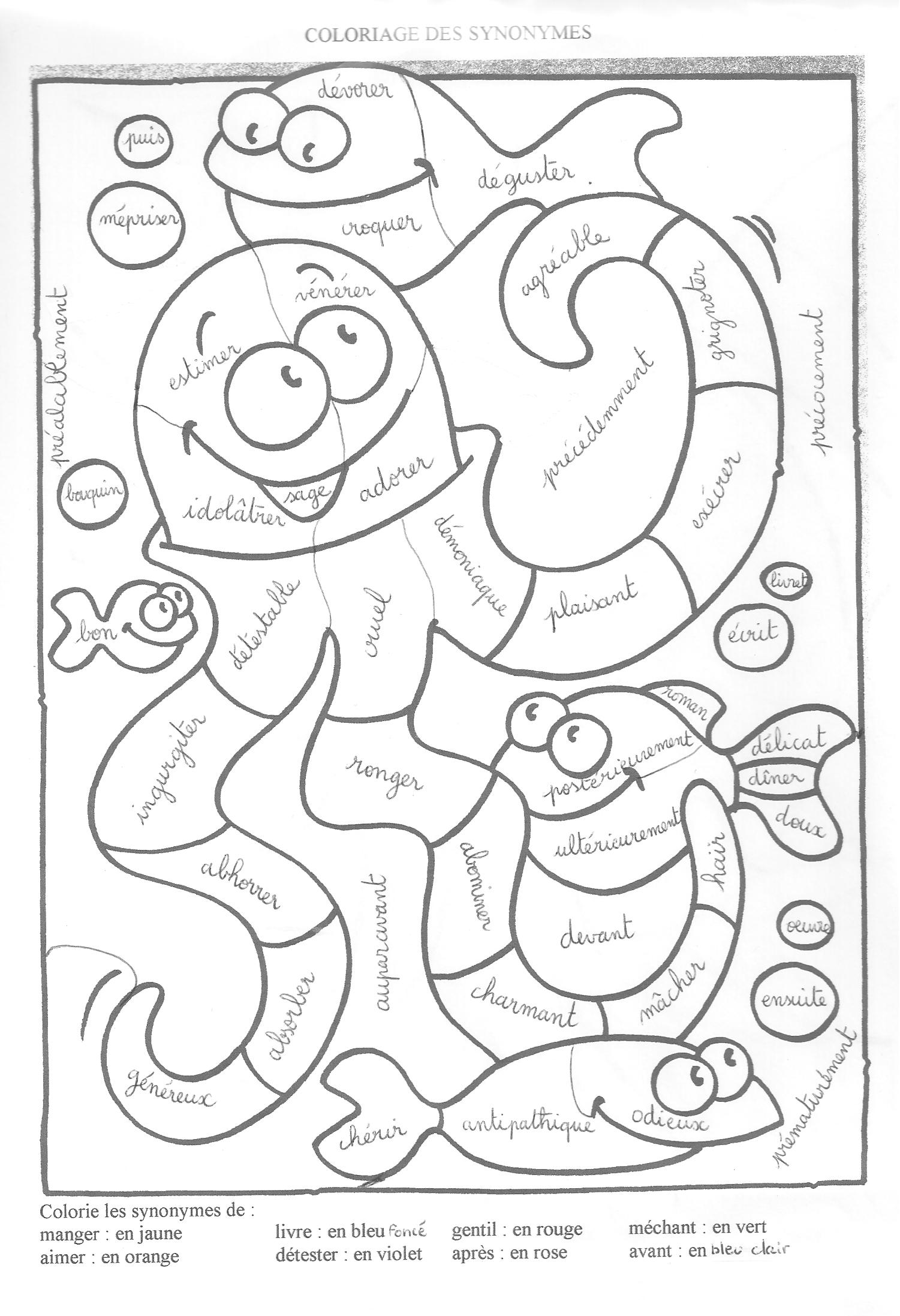 coloriage magique cp table d'addition
