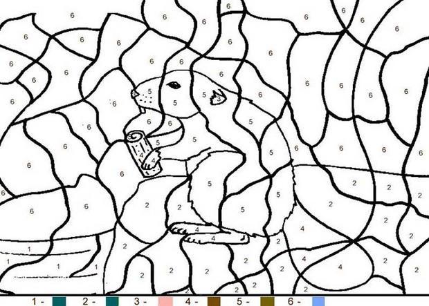 coloriage magique cp n 10