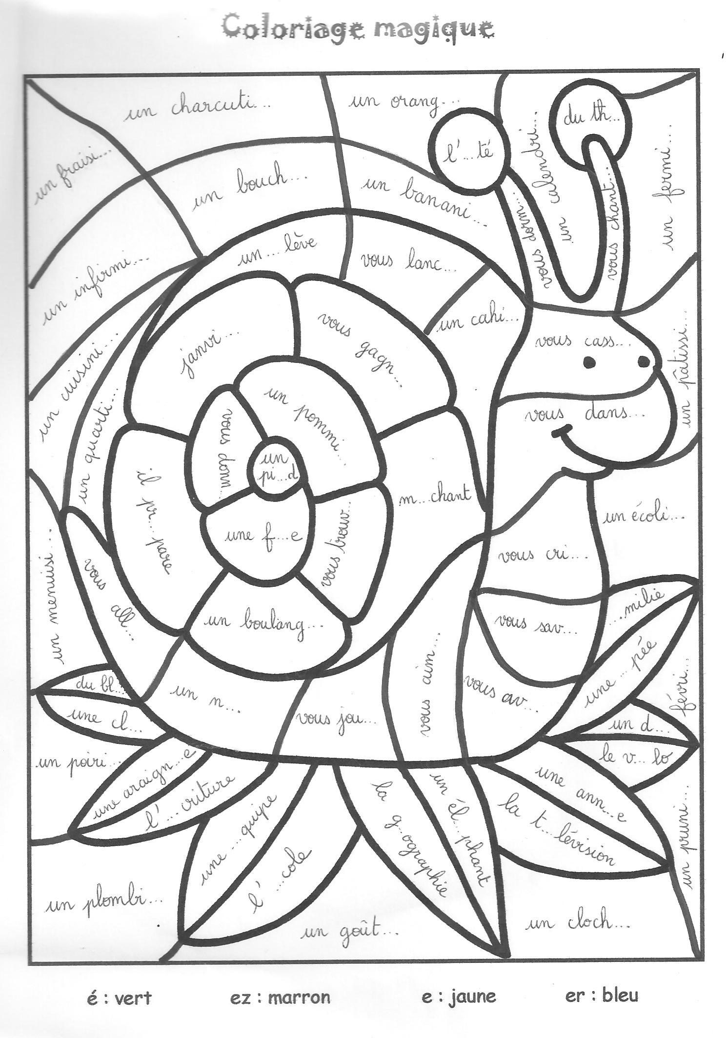 dessin magique lecture cp à imprimer