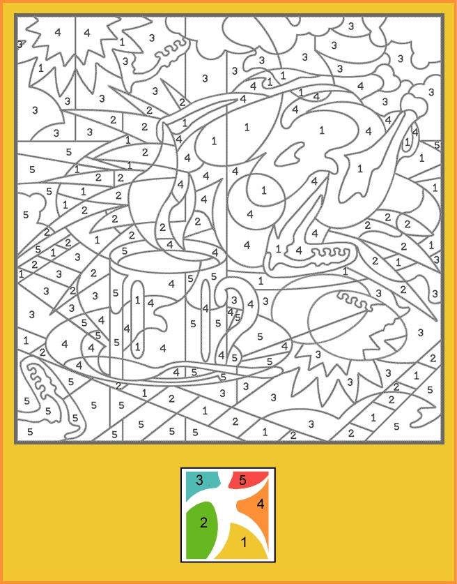 coloriage à dessiner magique difficile gratuit