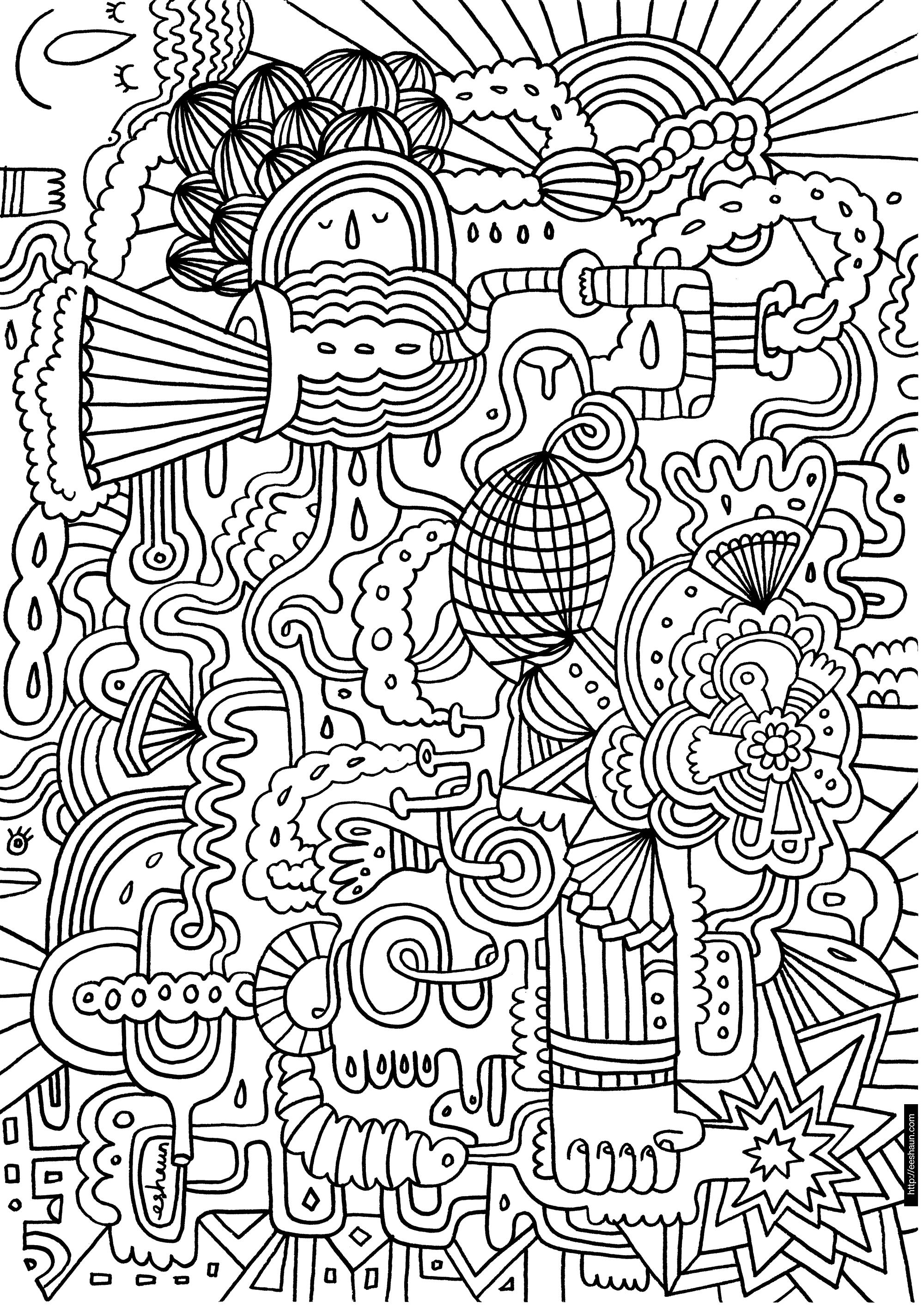 coloriage à dessiner magique difficile en ligne
