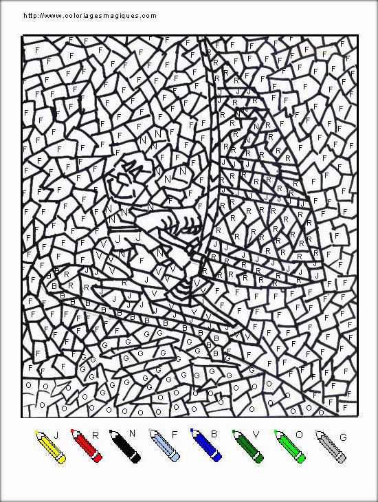 coloriage à dessiner magique tres difficile à imprimer