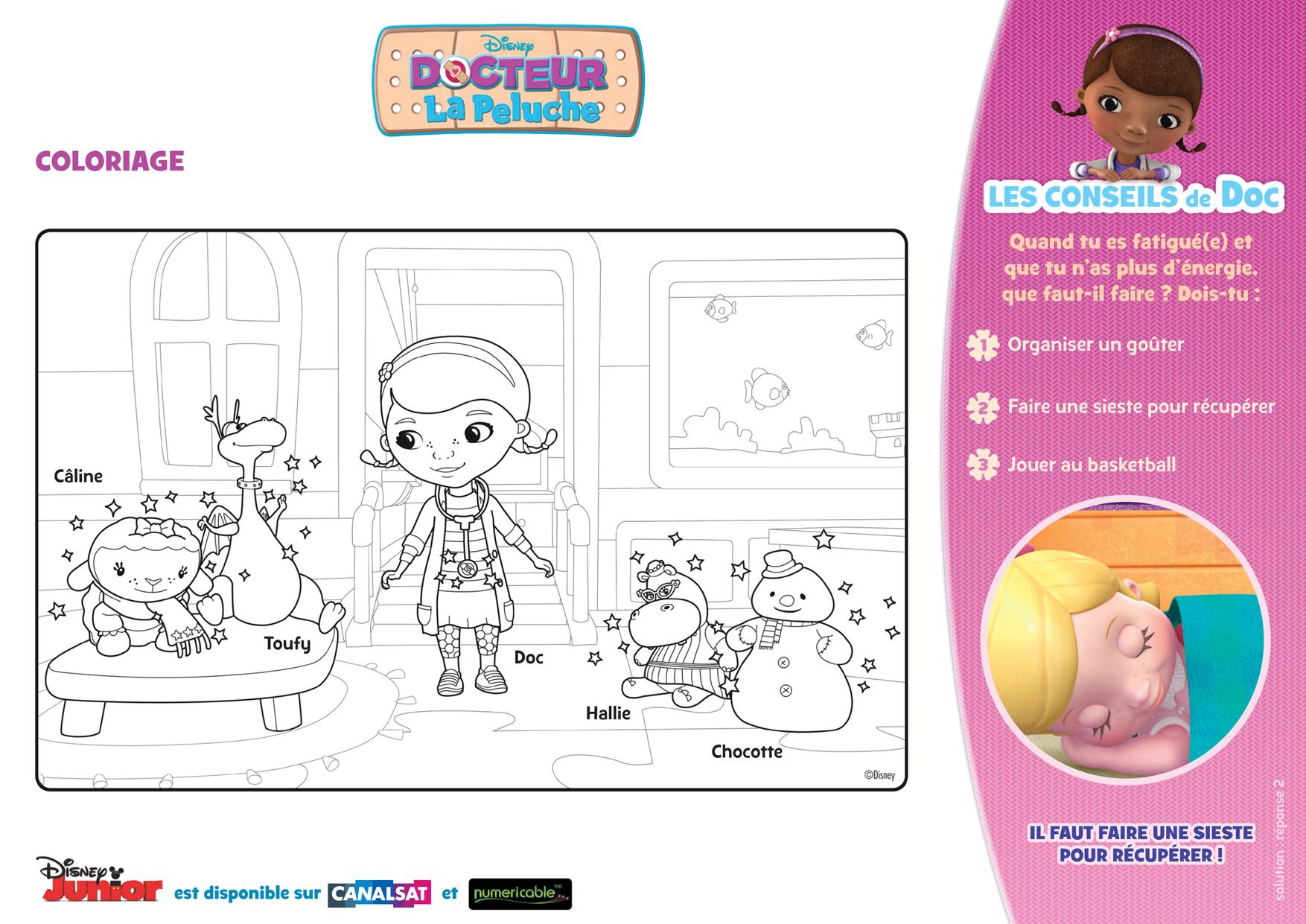 10 dessins de coloriage magique docteur la peluche imprimer - Coloriage de docteur la peluche ...