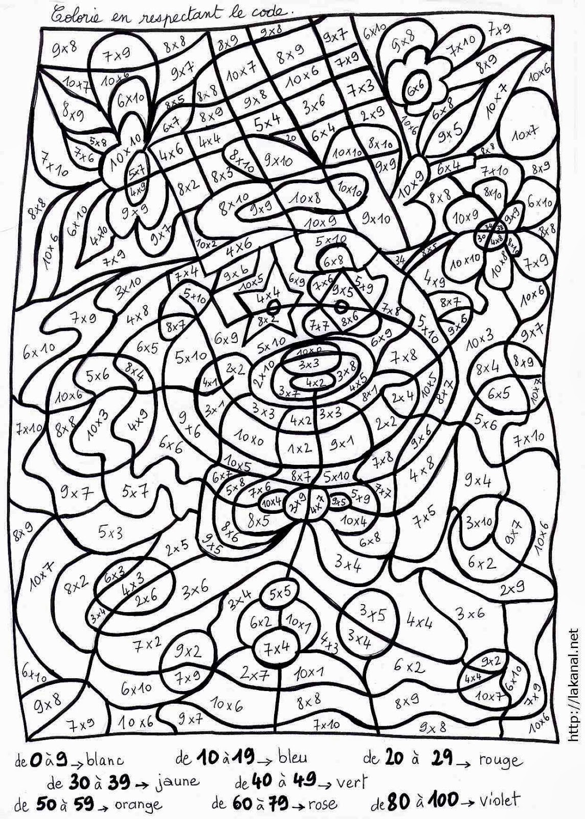 Coloriage Intelligent Cp.25 Dessins De Coloriage Magique Gs A Imprimer