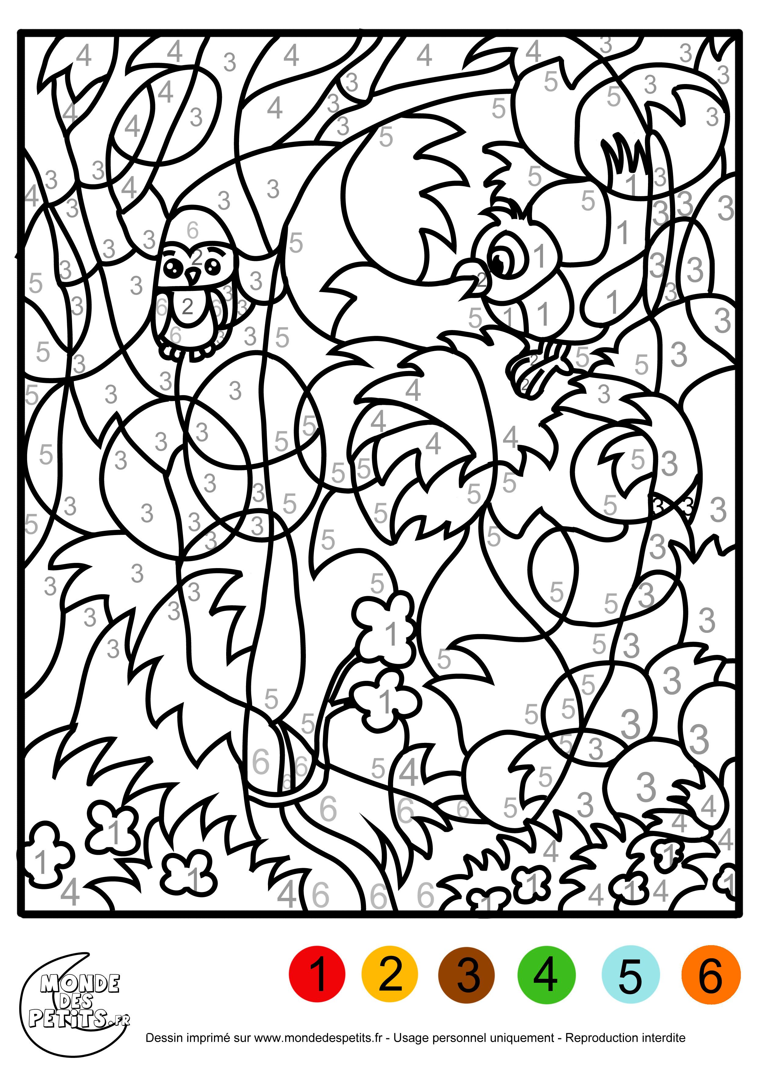 dessin à colorier magique gs ms