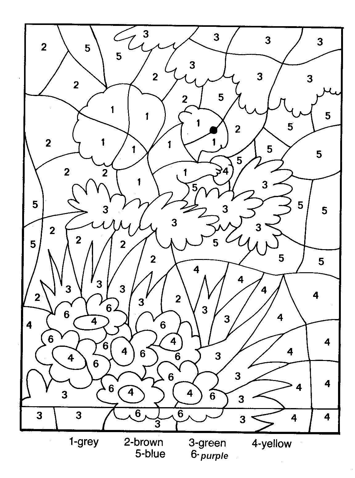 Coloriage Magique Printemps Grande Section.25 Dessins De Coloriage Magique Gs A Imprimer