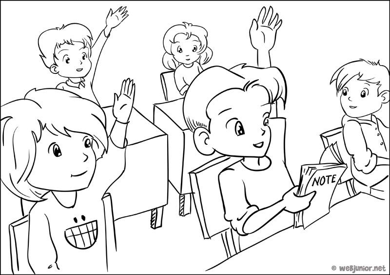 94 dessins de coloriage magique la rentr e des classes - Dessin classe ...