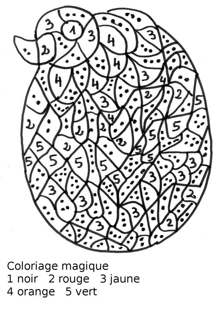 coloriage à dessiner codé poisson maternelle