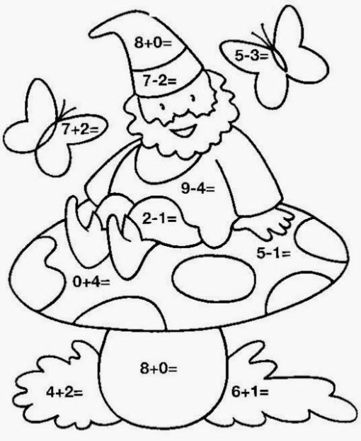 coloriage à dessiner magique et multiplication