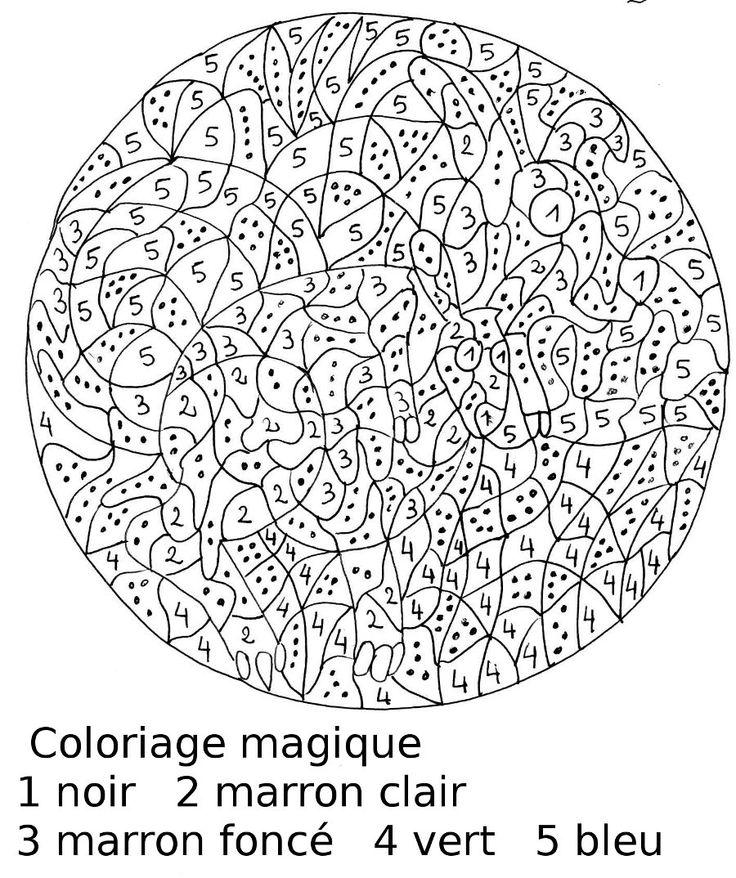 coloriage à dessiner magique avec multiplication cm1