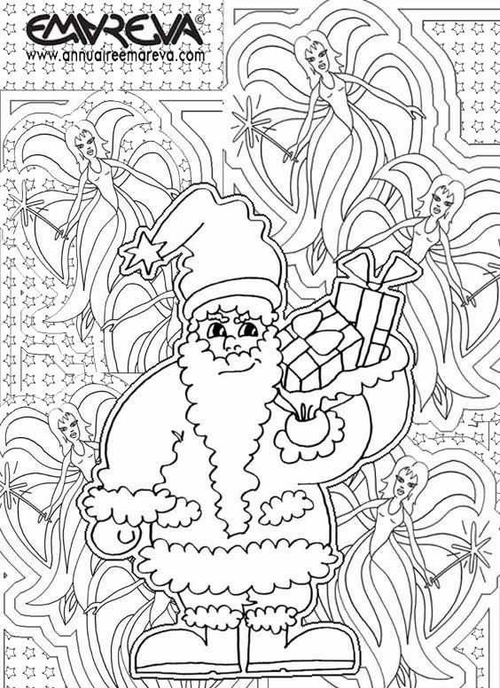 coloriage à dessiner magique noel cycle 2