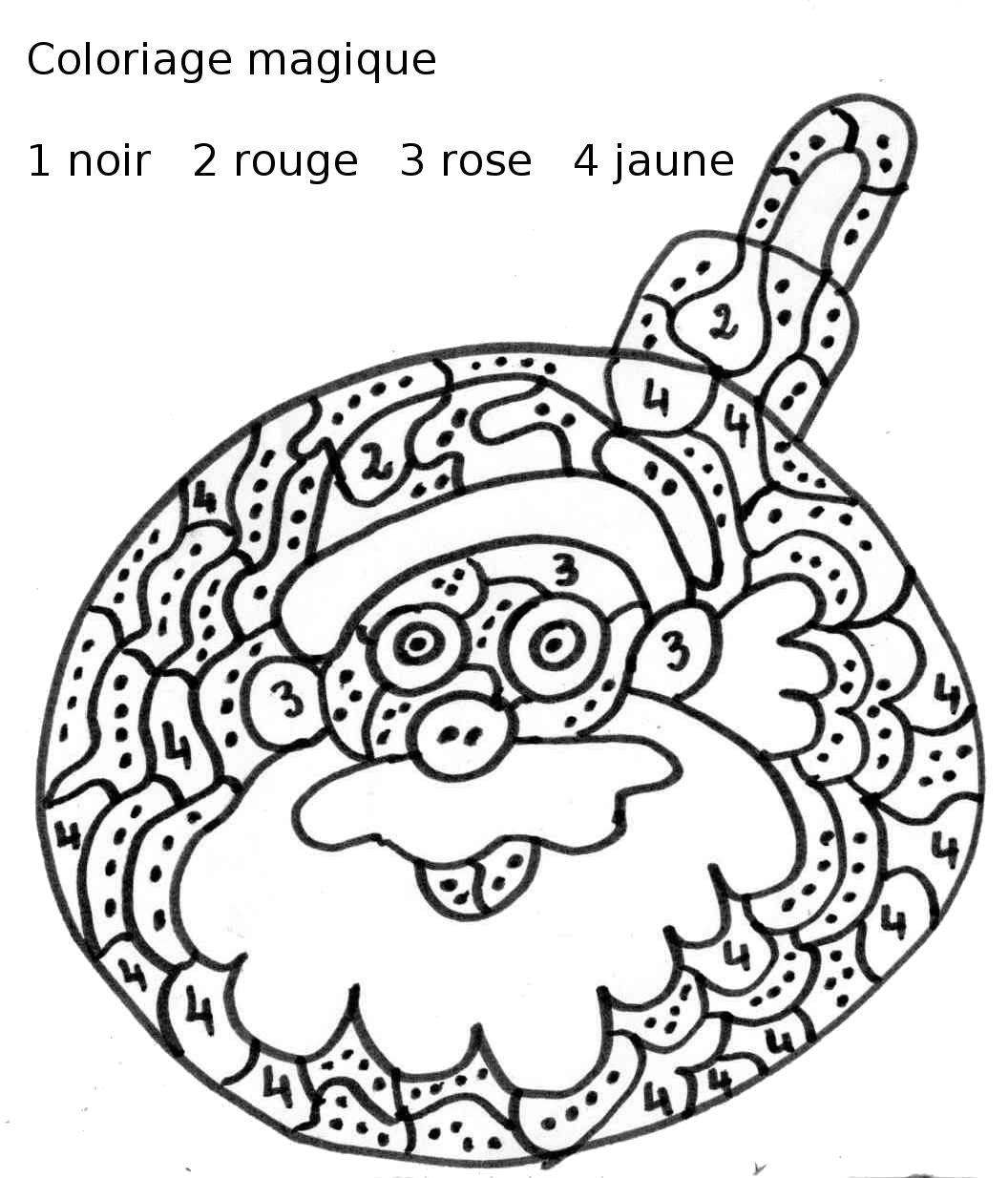 coloriage à dessiner magique sur noel