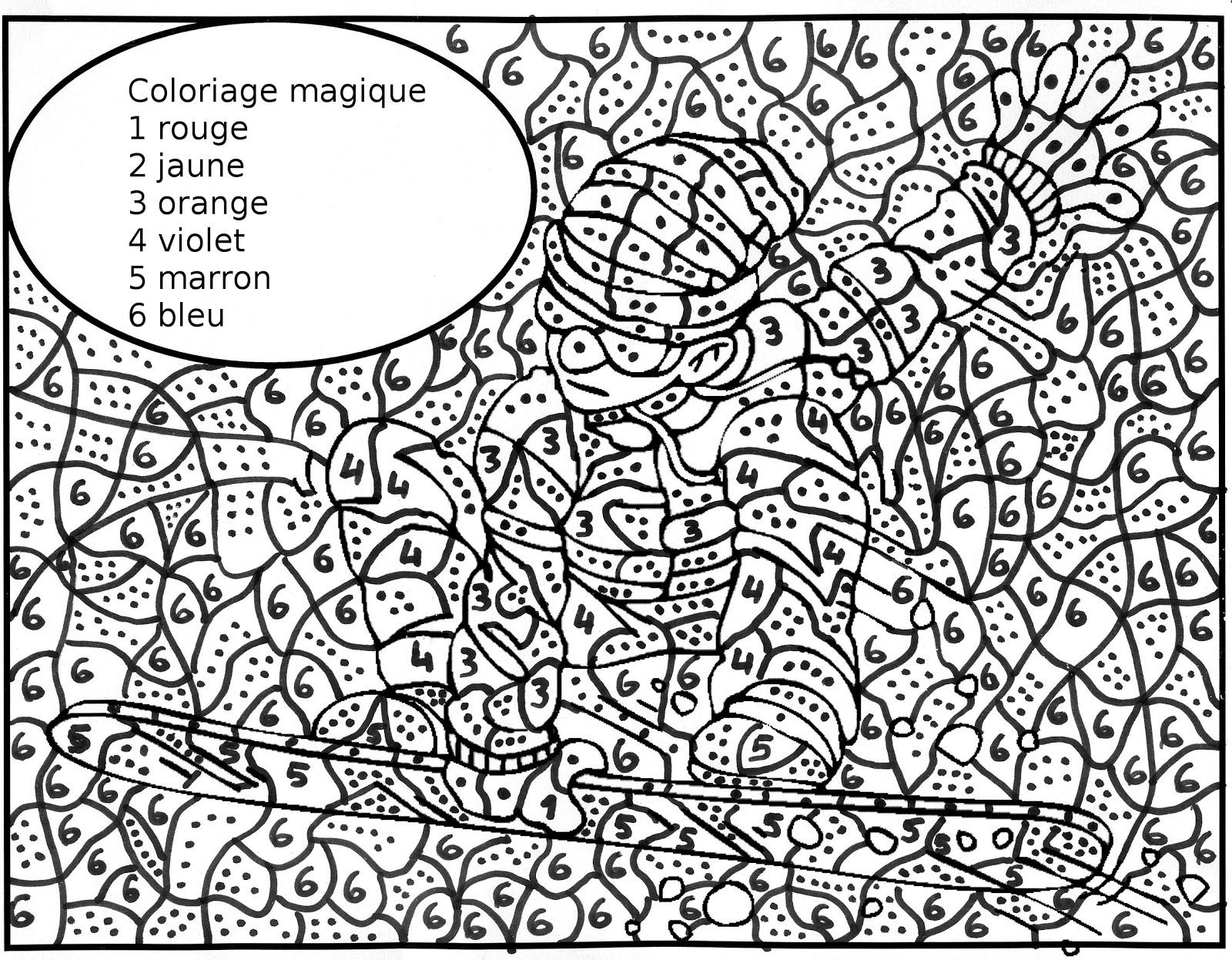 dessin à colorier magique de noel pour maternelle