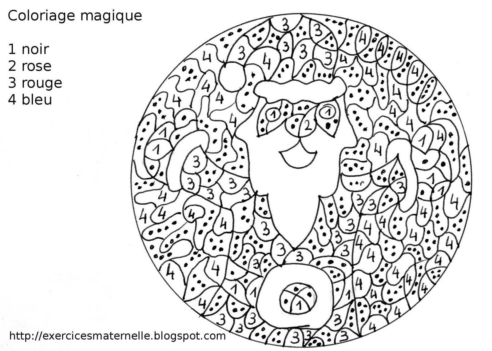 coloriage à dessiner magique noel maternelle à imprimer