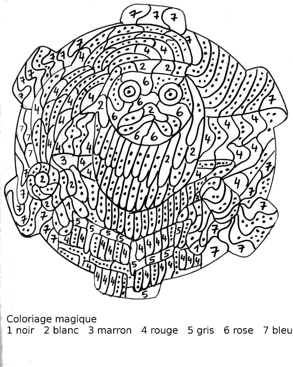 dessin à colorier magique noel en anglais