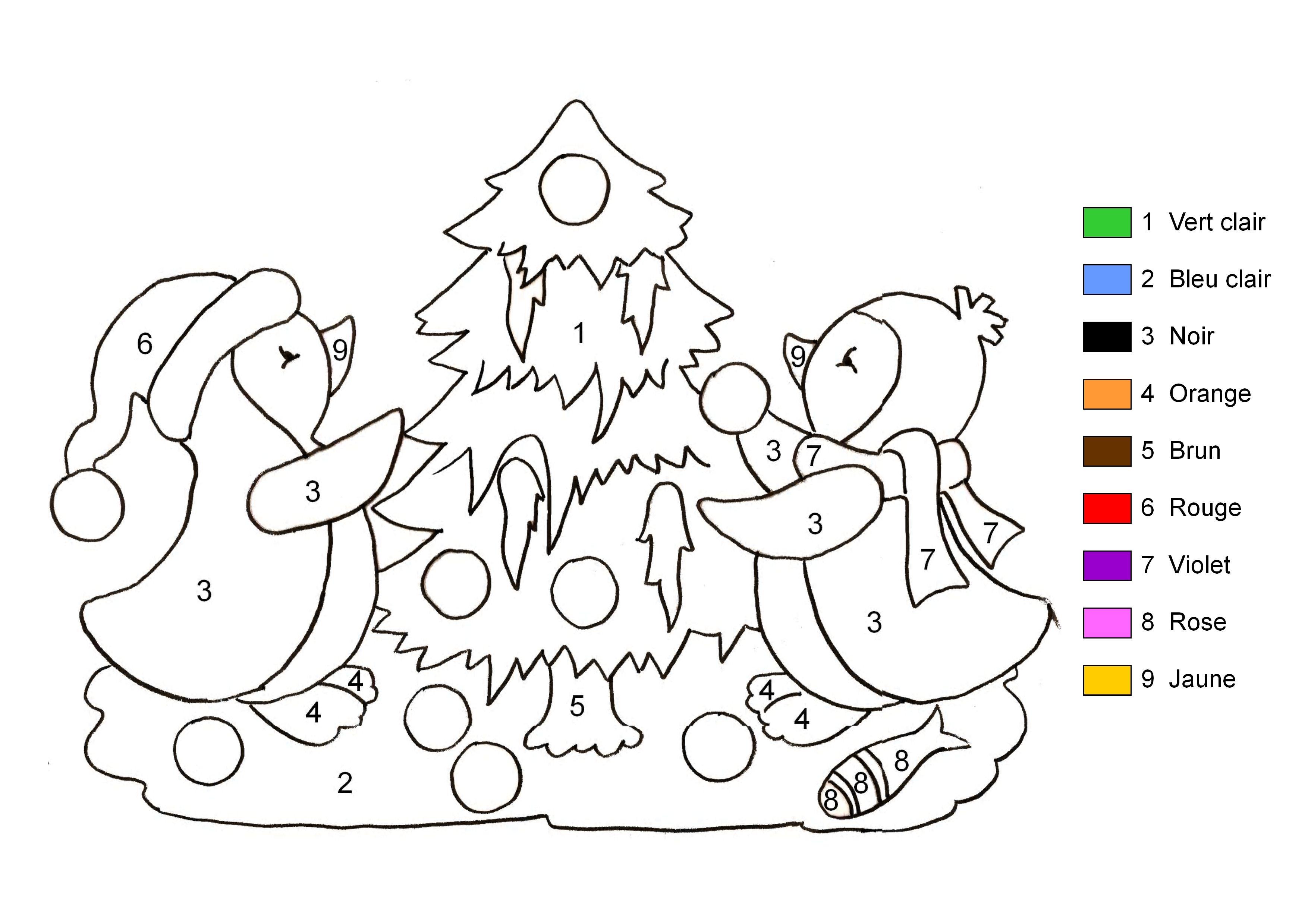 coloriage à dessiner magique noel imprimer