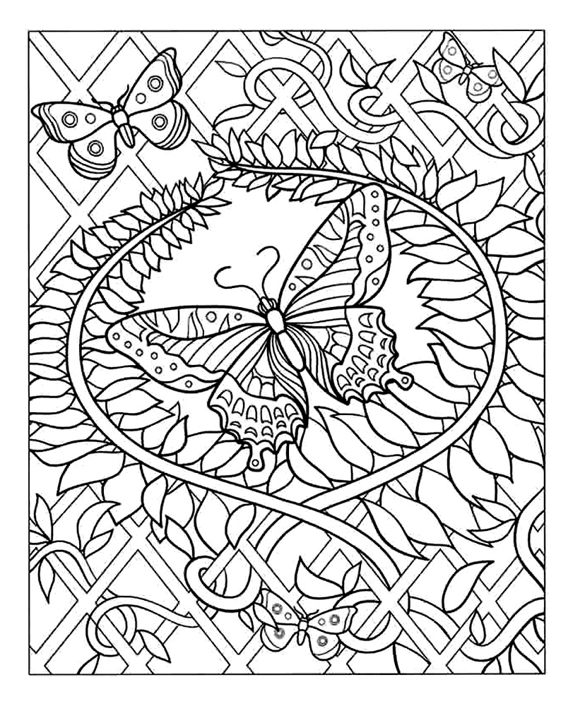 Coloriage Difficile Gs.Dessin A Colorier Magique Papillon Gs