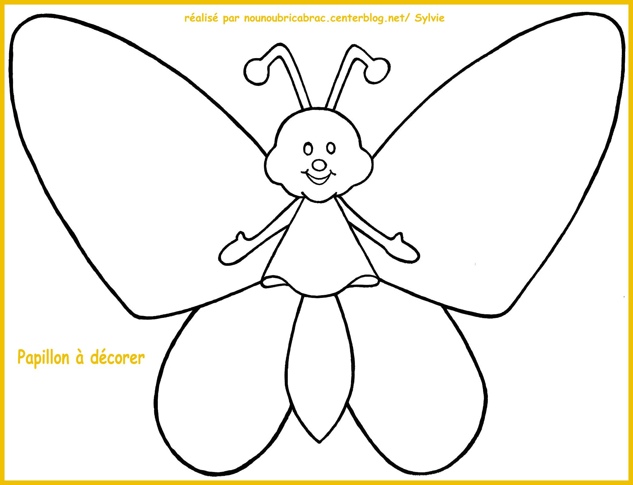coloriage magique papillon a imprimer
