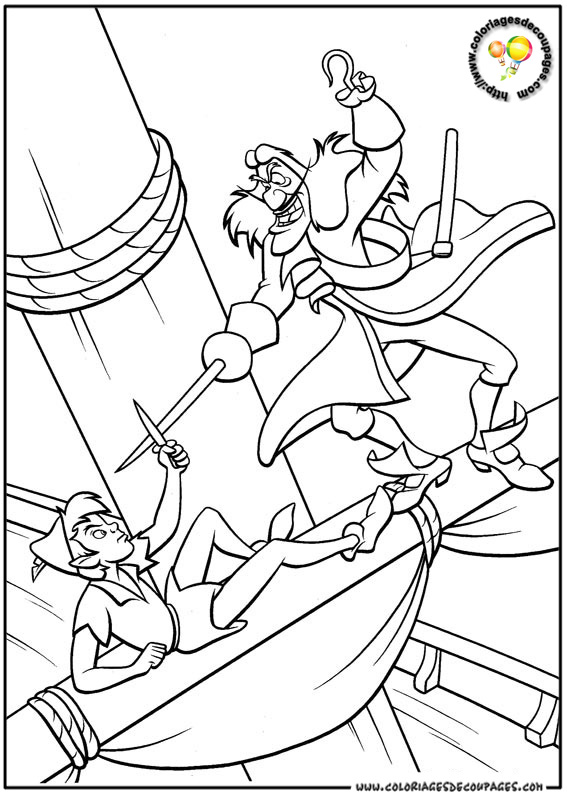 19 dessins de coloriage magique peter pan imprimer - Coloriages peter pan ...