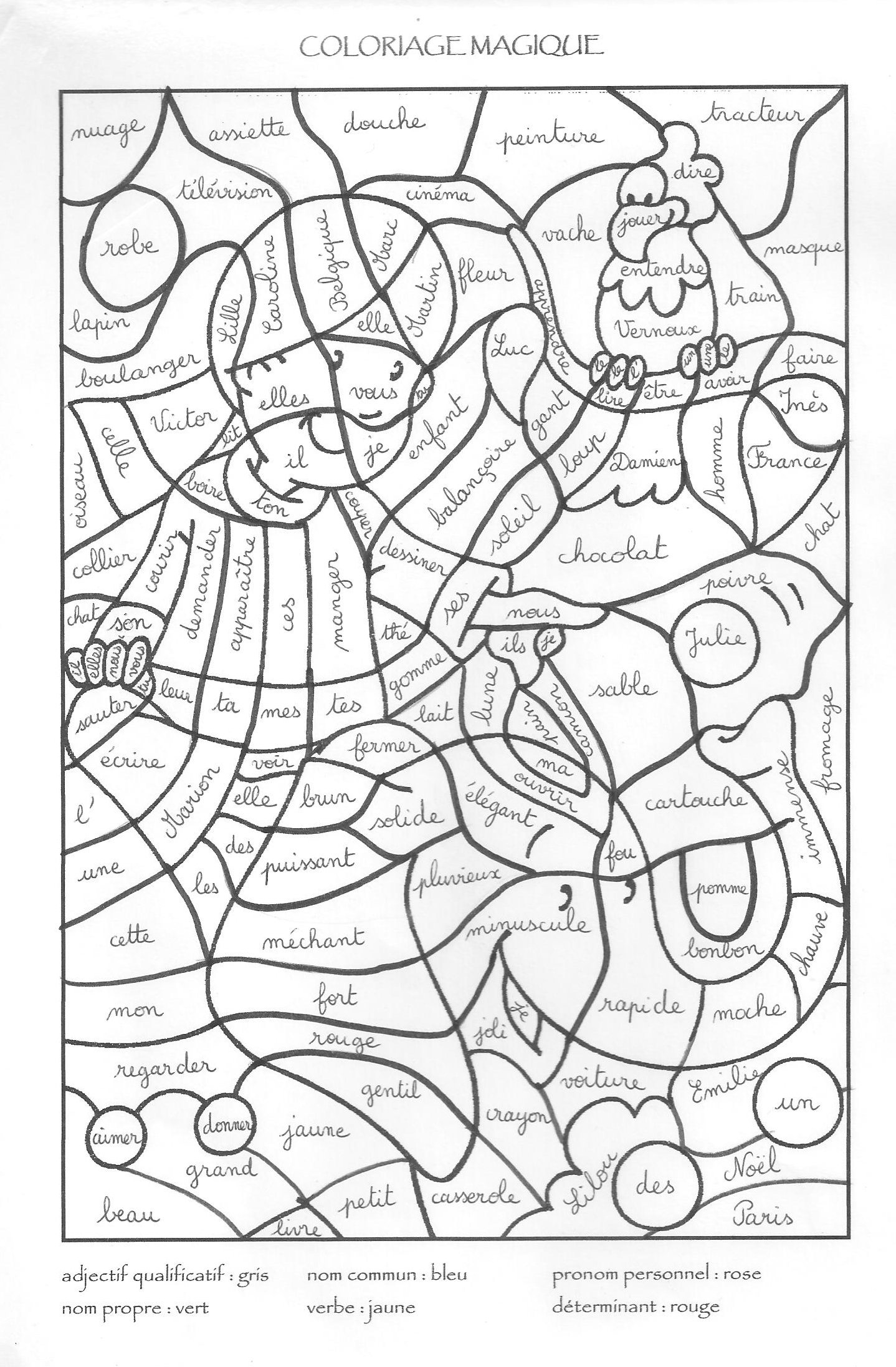 dessin à colorier magique pokemon noir blanc