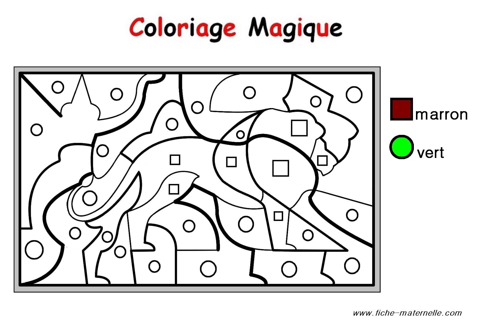 coloriage magique le son p