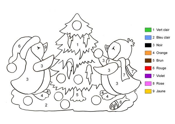 coloriage magique numération ps
