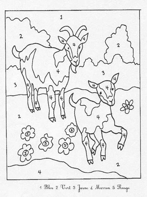 coloriage magique addition soustraction multiplication