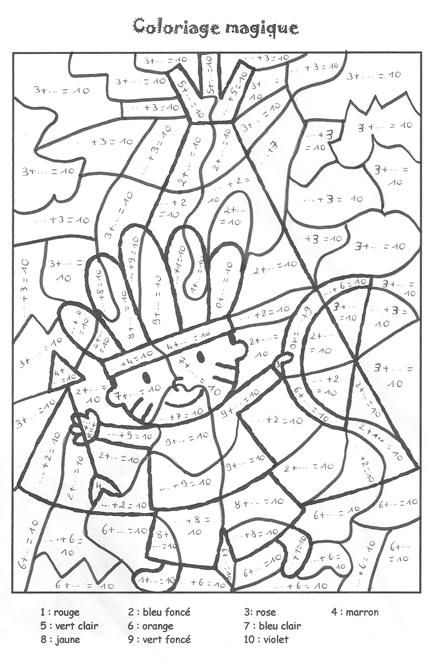 Coloriage204 coloriage magique soustraction ce1 - Coloriages magiques ce1 ...