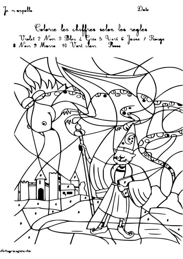 Coloriage Magique 1 ã 10 Maternelle
